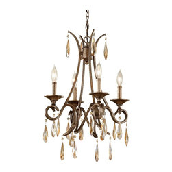 Murray Feiss - Gilded Imperial Silver Reina 4 Light 1 Tier Chandelier - Lamping Technologies:
