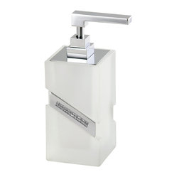 Carmen Frosted Glass Soap Dispenser
