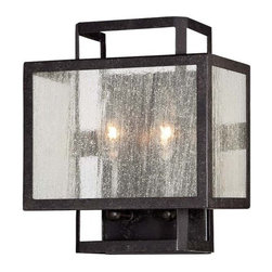 Minka Lavery - Minka Lavery 4870-283 2 Light Flush Mount Wall Sconce Camden Square Col - Two Light Wall Sconce from the Camden Square CollectionFeatures:
