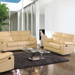 Giacinta Italian Leather Reclining Sofa Set - Sink into luxury with the Giacinta Italian Leather Reclining Sofa Set. Featuring comfortable cushioned seating, backrests, and armrests wrapped in premium 100% genuine soft Italian leather. With recliners in both the sofa and loveseat, you're sure to enjoy this set for years to come.