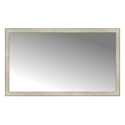 """Posters 2 Prints, LLC - 51"""" x 30"""" Libretto Antique Silver Custom Framed Mirror - 51"""" x 30"""" Custom Framed Mirror made by Posters 2 Prints. Standard glass with unrivaled selection of crafted mirror frames.  Protected with category II safety backing to keep glass fragments together should the mirror be accidentally broken.  Safe arrival guaranteed.  Made in the United States of America"""