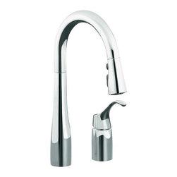 KOHLER - KOHLER K-649-CP Simplice Pull-Down Secondary Sink Faucet - KOHLER K-649-CP Simplice Pull-Down Secondary Sink Faucet in Chrome