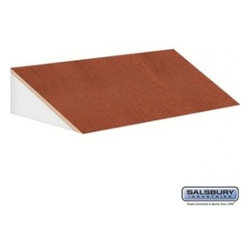 Salsbury Industries - Sloping Hood - for 21 Inch Deep Extra Wide Designer Wood Locker - 3 Wide - Cherr - Sloping Hood - for 21 Inch Deep Extra Wide Designer Wood Locker - 3 Wide - Cherry