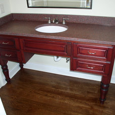 Traditional Powder Room by Raymond Smith's Cabinet Shop Inc