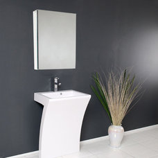 Modern Bathroom Vanities And Sink Consoles Quadro Pedestal Sink - Modern Bathroom Vanity by Fresca