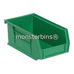 Stackable Plastic Bins - These stackable plastic bins come in cartons of 12.  The dimensions are 10-7/8 x 4-1/8 x 4.  Available in multiple colors as well as clear.  Use these all around your house to keep track of small parts and supplies.