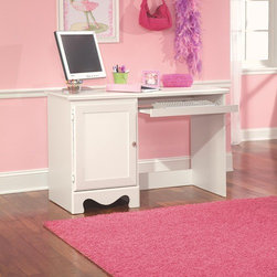 Standard Furniture - Spring Rose Student Computer Desk - Spring Rose features a traditional look, inspired by classic European Victorian design with graceful silhouettes and beautiful floral embellishments. Features: -Student desk.-Classic European victorian style.-Roller side drawers.-Dust proofing underneath.-Surfaces clean easily with a soft cloth.-Made in USA.-Constructed of solid wood and veneer.-Coordinated clear color knobs with fancy filigreed pattern back plates.-Spring Rose collection.-Distressed: No.-Collection: Spring Rose.-Country of Manufacture: United States.Dimensions: -Dimensions: 30'' Height x 47'' Width x 21'' Depth.Assembly: -Assembly required.Warranty: -Manufacturer provides 1 year warranty.
