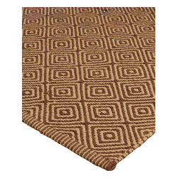 """Natural Area Rugs - """"Realm"""" Jute/Cotton Rug, Natural Fiber, Hand Made by Artisan Rug Maker, Brown - Free & Same Day Shipping within Continental USA. International Shipping Available (Contact us for a quote). All natural, hand woven by Artisan rug maker. Incredibly soft and warm, Jute rugs look great in any room. It's durability makes it great to be placed in high traffic areas as they do not wear easily. Like any rug, rug pads are recommended as it will prolong the longevity of your jute rug and protect hardwood floor. Variations are part of the natural beauty of natural fiber."""