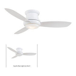 Minka Aire - Mink Aire Concept II 44 Ceiling Fan in White - Minka Aire Concept II 44 Model F518-WH in White with White Finished Blades. Included Single Light Fixture for Concept II.