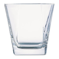Office Settings - Office Settings Cozumel Beverage Glasses, Set of 6 - Contemporary prism design provides a touch of stylish elegance to both beverage service and fine-dining table settings.
