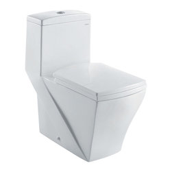 "Ariel - Ariel ""Granada"" Contemporary One Piece White Toilet with Dual Flush 26.5x14x28.5 - Ariel cutting-edge designed one-piece toilets with powerful flushing system. It's a beautiful, modern toilet for your contemporary bathroom remodel."