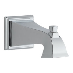 Delta - Delta Tub Spout - Pull-Up Diverter - Rp52148 - The clean lines and dramatic geometric forms of the Dryden Bath Collection are based on style cues from the Art Deco period.