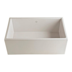 Shaws Contemporary Single-Bowl Fireclay Apron Kit Open Sink - I had to choose between a gas range and a fireclay sink to stay within my budget for my kitchen remodel. I went with this dreamy sink!