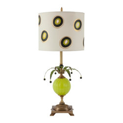 Harlequin Light - Harlequin Dottie Lamp - Spirited and exuberant - an upbeat treat!