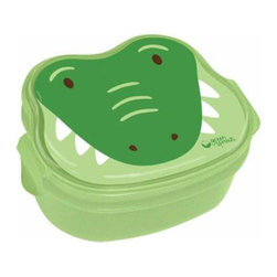 Green Sprouts - Green Sprouts Safari Bento Box in Green Crocodile - Your little crocodile hunter never wants food touching on a plate. This clever bento box has three compartments and a bowl to keep each item in its place. Easy to open and close for little hands, the lunch box is perfect to take to school, daycare or on a field trip.