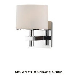 Ombra 1LT by Alico Bathroom Sconce - Contemporary in style we like the delicate details of this sconce. Easy to mix into a more traditional bath design for contrast as well as using in a contemporary setting.