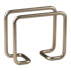 Spectrum Diversified Designs - Dunbar Napkin Holder - Satin Nickel - From the Dunbar Collection, this napkin holder keeps napkins neat, stacked and contained. Made of sturdy steel and a satin nickel finish.