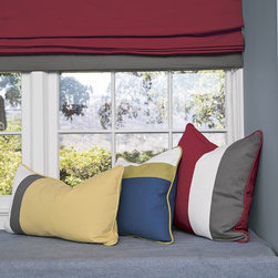 Smith and Noble Color Block Roman Fabric Shades - Fabric Shades make for endless possibilities, like fabric Roman shades for an exotic look, or London fabric window shades for a touch of class. Starting at $131+