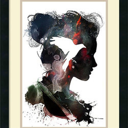 Amanti Art - Alex Cherry 'Little Bird' Framed Art Print 18 x 24-inch - Add a Little Bird to your decor with this abstract and poetic take on traditional silhouette portraiture by Alex Cherry. Cherry is self taught and based in Los Angles. His works combine the influence of both music and pop culture.
