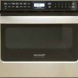 Sharp Insight Pro Series Built-In Microwave Drawer - A 30-inch drawer unit works very well below a wall oven. The 24-inch versions are more compact and suited for individual base cabinets.