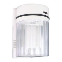 Lights of America - Lights of America Outdoor Lighting. 27-Watt Fluorescent Wall Light, White - Shop for Lighting & Fans at The Home Depot. White lexan housing with clear diffuser. 27-watt Fluorescent lamp included. Dusk to Dawn operation. Electronic operation for sub-zero temperatures. Lights up a small area around front and side doors.
