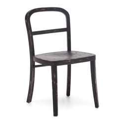 Zuo Modern - Zuo Modern 98060 Fillmore Chair Black - Sold in Sets of 2 - Simple and refined, the Filmore chair's carved, solid elm frame and smooth seat will not overpower any setting. Comes in natural, antique white, and antique black finishes.