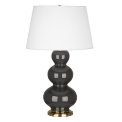 Robert Abbey - Triple Gourd Table Lamp, Ash - -1-150W Max.