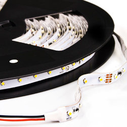 NFLS-x1200-24V series 1200 High Power LED Flexible Light Strip - 20m - NFLS-x1200-24V series extra long flexible LED light strip. 20 meters (65.6 feet) long with 1200 high power 1-chip 3528SMD LEDs with adhesive backing can be cut into 6-LED segments. 24 VDC Operation - 1 unit (20m) maximum run.