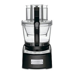 Cuisinart - Cuisinart FP-12BK Elite Series 12-cup Food Processor - Black - 086279025708 - Shop for Choppers and Food Processors from Hayneedle.com! About CuisinartOne of the most recognized names in cookware and kitchen products Cuisinart first became popular when introduced to the public by culinary experts Julia Child and James Beard. In 1973 the Cuisinart food processor revolutionized the way we create fine food and healthy dishes and since that time Cuisinart has continued its path of innovation. Under management by the Conair Corporation since 1989 Cuisinart is a universally celebrated name in kitchens across the globe. With a full-service product line including bakeware blenders coffeemakers cookware countertop appliances kitchen tools and much much more Cuisinart products are preferred by chefs and loved by consumers for durability ease of use superior quality and style.