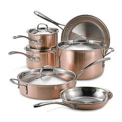 Calphalon Tri-Ply Copper 10-Piece Cookware Set - Ms. Patmore makes some pretty elaborate meals without the benefits of modern appliances. She does, however, have a great set of pots and pans. We think she would like this copper-clad set and could just cook up anything with them.