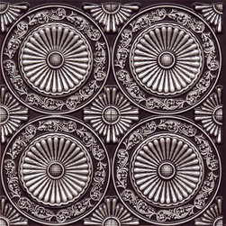 "Decorative Ceiling Tiles - Paisley Daisies - Faux Tin Ceiling Tile - Glue up - 24""x24"" - #235 - Find copper, tin, aluminum and more styles of real metal ceiling tiles at affordable prices . We carry a huge selection and are always adding new style to our inventory."
