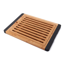 Elite Global Solutions - Black Bamboards 15 x 10 5/8 x 3/4 H Rectangular Cutting Board - Bamboards are made of 100 percent naturally antimicrobial bamboo with seamlessly integrated Microban protected softgrips