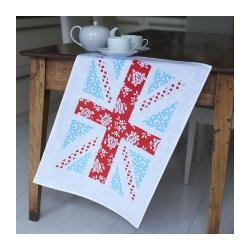 Union Jack Tea Towel, Red/Turquoise - We love the combination of red and turquoise in this this sweet Union Jack tea towel.
