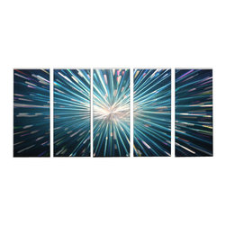 Matthew's Art Gallery - Metal Wall Art Abstract Modern Contemporary Sculpture Star Light - Name: Star Light