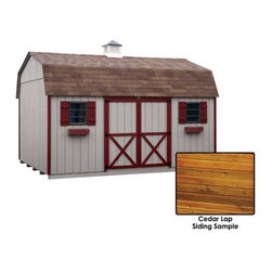 Fifthroom - Cedar Lap Siding Barn Style (6' sidewall) Sheds -