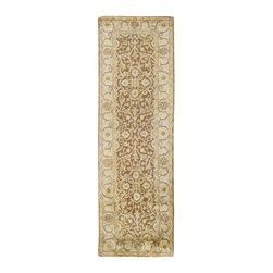 """Surya - Surya Vintage Hand Tufted Sepia Wool Rug, 18"""" x 18"""" - Muted tones and antique finishes give the rugs of the Vintage collection an aged and sophisticated look. Luxurious New Zealand Wool in rich golden browns, pale gray and soft ivory are hand tufted in intricate and traditional patterns to create a historical and timeless appearance. Imported.Material: 100% New Zealand WoolCare Instructions: Blot Stains"""