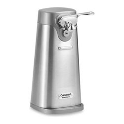 Cuisinart - Cuisinart Deluxe Stainless Steel Can Opener - This brushed stainless steel, free-standing can opener opens any standard size can while looking fantastic with other premium countertop appliances.