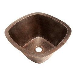 Belle Foret - Belle Foret Square Copper Kitchen Sink, Weathered Copper (BFC5BARWC) - Belle Foret BFC5BARWC Square Copper Kitchen Sink, Weathered Copper