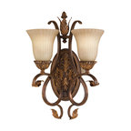Feiss - Feiss WB1281ATS Sonoma Valley 2 Light aged Tortoise Shell Bathroom Wall Sconce - Finish: aged Tortoise Shell