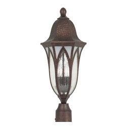 "Designers Fountain - Designers Fountain 20626-BAC 3 Light 9"" Cast Aluminum Post Lantern from the Berk - Features:"
