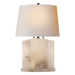 Visual Comfort and Company - Visual Comfort and Company TOB3233ALB-NP Thomas Obrien Orion 2 Light Table Lamps - This 2 light Decorative Table Lamp from the Thomas OBrien Orion collection by Visual Comfort will enhance your home with a perfect mix of form and function. The features include a Alabaster Natural Stone finish applied by experts. This item qualifies for free shipping!