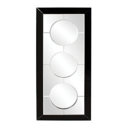 Trifecta Rectangular Framed Wall Mirror