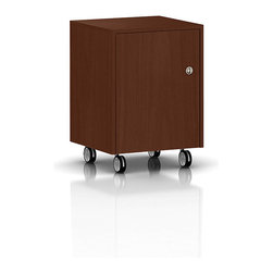 Geiger - Sled Base Mobile Pedestal - This sturdy office cabinet with locking mechanism keeps important items safely stored and away from prying eyes. With four durable casters, you're free to move the cabinet where you want, when you need to.