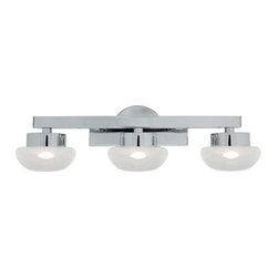 Access Lighting - Access Lighting 70043LED-CH/CLFR Dewdrop Modern Bathroom Light - Chrome - Access Lighting 70043LED-CH/CLFR Dewdrop Modern Bathroom Light In Chrome