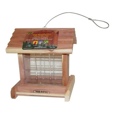 """HEATH MFG - 3Lb Classic Bird Feeder - Easy-fill feeder, holds mixed seed. Completely assembled from 1/2"""" wood with rope hanger. Cap Lbs: 3"""