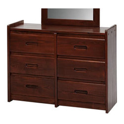 Chelsea Home Furniture - Chelsea Home 6-Drawer Dresser in Dark - Providing home elegance in upholstery products such as recliners, stationary upholstery, leather, and accent furniture including chairs, chaises, and benches is the most important part of Chelsea Home Furniture's operations. Bringing high quality, classic and traditional designs that remain fresh for generations to customers' homes is no burden, but a love for hospitality and home beauty. The majority of Chelsea Home Furniture's products are made in the USA, while all are sought after throughout the industry and will remain a staple in home furnishings.
