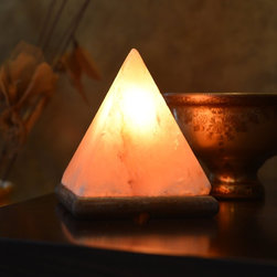 HemingWeigh Natural Himalayan Rock Salt Pyramid Lamp With Wood Base - Not only are salt lamps nice to look at, but they claim some health benefits as well.