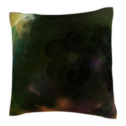 Custom Photo Factory - Translucent Abstract Pattern Pillow.  Polyester Velour Throw Pillow - Translucent Abstract Pattern Pillow. 18 Inches x 18 Inches  Made in Los Angeles, CA, Set includes: One (1) pillow. Pattern: Full color dye sublimation art print. Cover closure: Concealed zipper. Cover materials: 100-percent polyester velour. Fill materials: Non-allergenic 100-percent polyester. Pillow shape: Square. Dimensions: 18.45 inches wide x 18.45 inches long. Care instructions: Machine washable