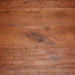 "White Oak Shadow Valley 1/2 x 7-1/2"" Wire Brushed Engineered Hardwood Floor -"
