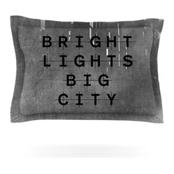 """Kess InHouse - Alison Coxon """"Bright Lights"""" Dark City Pillow Sham (Woven, 30"""" x 20"""") - Pairing your already chic duvet cover with playful pillow shams is the perfect way to tie your bedroom together. There are endless possibilities to feed your artistic palette with these imaginative pillow shams. It will looks so elegant you won't want ruin the masterpiece you have created when you go to bed. Not only are these pillow shams nice to look at they are also made from a high quality cotton blend. They are so soft that they will elevate your sleep up to level that is beyond Cloud 9. We always print our goods with the highest quality printing process in order to maintain the integrity of the art that you are adeptly displaying. This means that you won't have to worry about your art fading or your sham loosing it's freshness."""
